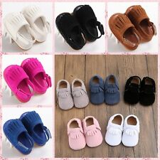 Newborn Baby toddler Tassels shoes rubber tassel sandals Soft Sole prewalker QGV