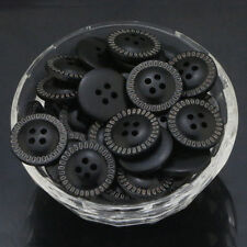 Black Round Wood Buttons 4 Hole Buttons Sewing Scrapbooking Wood Buttons