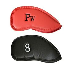 12pcs/ Set Leather Golf Club Head Cover Wedge Lron Putter Protective Head Covers