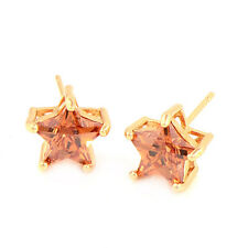 Gorgeous  Shiny Star 18K Gold Plated clear crystal Stud Earrings
