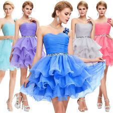 Organza Short Ball Gown Cocktail Evening Prom Bridemaid Mesquerade Party Dress+