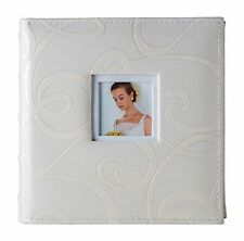 Wedding Photo Album Picture Book Swirl Cover - Holds 200, 4x6 photos with memo