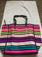 Bag Secret Tote Victorias Pink Beach Striped Black Large  2016 Limited Edition