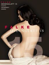 Falke Seidenglatt 15 Denier Shiny Tights, Sheer, Nude, Black Pantyhose XL & XXL