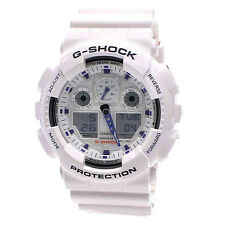 Casio GA-100-1A1   GA-100 G SHOCK Mens Watch Analog-Digital Sport White Japan