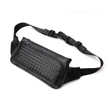 Men fashion PU Leather Fanny Pack Waist Bag Sling Chest Pack Cell Phone wallet