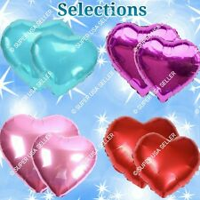 "18"" HEARTS Foil Balloons Valentines Shower Wedding Birthday Party Supplies lot N"