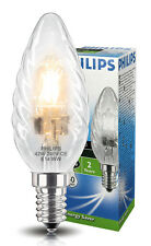 Phillips Eco Halogen Candle 42W = 60W Energy Saving Twisted Candle Light Bulb