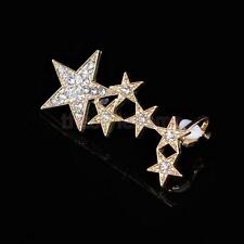 1pc Girl Elegant Wrap Earring Crystal Punk Star Right Cuff Clip Ear Stud Jewelry