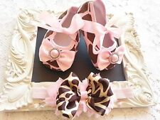 Baby Crib Shoes and Headband Set Embellishments 1-18 Months