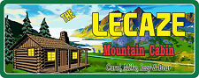 Mountain Cabin Rustic Welcome Sign with Mountains & Pine Trees C1119