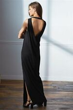 NEXT SIZE 12 TALL BLACK STRETCH COWL DRAPE BACK MAXI DRESS BNWT NEW IN