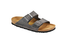 BIRKENSTOCK Men's Arizona Sandals 552801 Leather Iron Size 45