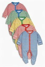 BNWT baby boys 5 pk  Stripes Sleepsuits 18-24 months NEXT