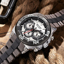 MEGIR Men's Watch Top Luxury Brands Chronograph Sport Running Quartz Wristwatch