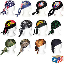SKULL CAP BEANIE HAT DU DO DOO RAG MOTORCYCLE CHOPPER BIKER 12 DESIGNS TO CHOOSE