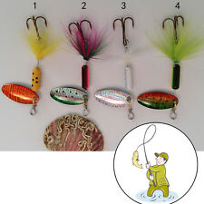 3.7g Metal Spoon Lures with Feather  Lure Spinner Jig Fake Bait for Fishing 5J0