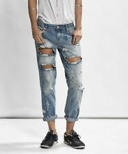 ONE TEASPOON TRASHED JEANS SZ 25 AUSTIN AWESOME BAGGIES DISTRESSED DENIM NWT