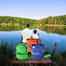 Practical Water Bucket Foldable Water Bucket with Rope Belt Outdoor Use F5