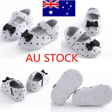 Baby Girl Bow Princess Gray Crib Shoes Prewalker Toddler Infant Shoes 0-18 Month