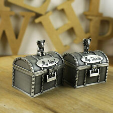 My First Tooth & Curl Silver Trinket Box Set Keepsake Baby Shower Birthday Gifts