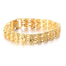 Womens charm heart bracelet Gold Plated indian european free shipping jewelry
