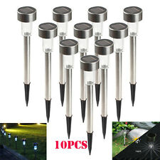 5/10X Outdoor  Stainless Steel LED Solar Landscape Path Lights Yard Lamp  5V9