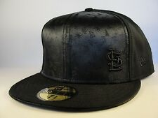 MLB St Louis Cardinals New Era 59FIFTY Fitted Hat Cap Black