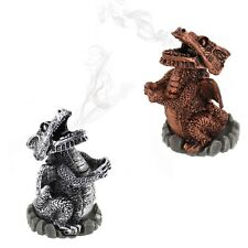Smoking Dragon Incense Cone Burner Home Fragrance Silver Copper Wicca Pagan Gift