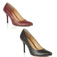 Ravel Newton Pointed Toe Court Shoes Black or Red Leather