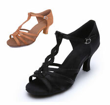 Free shipping Brand New Women's Ballroom Latin Tango Dance Shoes heeled Salsa230