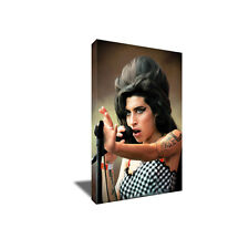 The AMY WINO WINEHOUSE Portrait Poster Photo CANVAS ART Painting