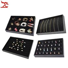 Black Velvet Jewelry Display for Ring Earring Necklace Bracelet Accessories Tray
