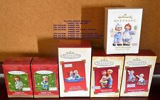 HALLMARK KEEPSAKE ORNAMENTS RAGGEDY ANN & ANDY 2001 2003 2004 2005 2006 YOU PICK