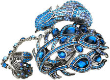 Peacock cuff bracelet slave ring bling fashion jewelry women A23 crystal gift