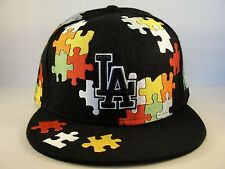MLB Los Angeles Dodgers New Era 59FIFTY Fitted Hat Cap Puzzle