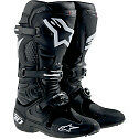ALPINESTARS TECH 10 MOTOCROSS ATV DIRTBIKE MX BOOTS BLACK MENS SIZE