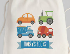 Bright Star Kids Personalised Library Double Drawstring or Tote Bag - Transport