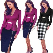 Elegant Women's Career Bodycon Evening Party Wear to Work Office Business Dress