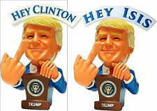 "2-Pack! Donald Trump ""F$$K Hillary"" ""F$$k ISIS"" Bobble Middle Fingers Bobblehead"