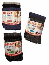 Mens 6Pairs Billy Boxers button fly underwear Jersey boxer shorts