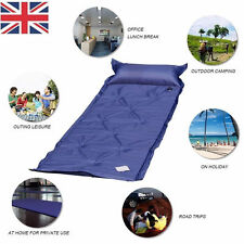 SINGLE SELF INFLATING CAMPING ROLL MAT INFLATABLE CAMP BED SLEEPING MATTRES +BAG