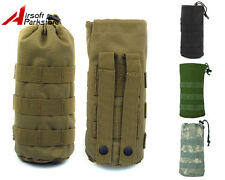 Tactical Molle Open Top Water Bottle Pouch Bag with Mesh Bottom Black/CB/ACU/OD