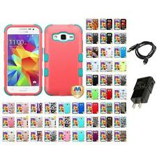For Samsung Core Prime G360P Hybrid TUFF IMPACT Case Hard Phone Cover Charger