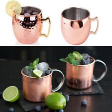 Moscow Mule Pure Solid Copper Mug Cup For Use Restaurant Bar Beer Cup Hammered