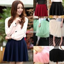 Women Fashion Princess Fairy Style 5 layers Tulle Dress Bouffant Skirt Mini FT
