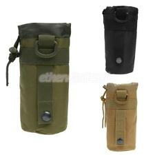 Outdoor Camping Hiking Tactical Molle Water Bottle Bag Kettle Pouch Holder NEW