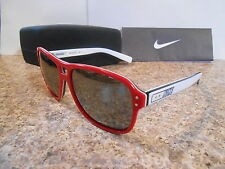 Nike EV0602-607 Vintage Model 77 Sunglasses Red & White Frame New