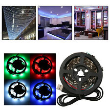 WS68 12 RGB 5050 SMD Waterproof Flexible USB 5V LED Black Strip Lamps Light LOT~