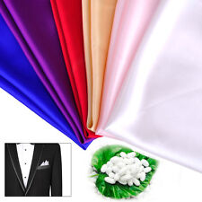 Men Gentleman Silk Hanky Solid Handkerchief Wedding Party Pocket Square Plain